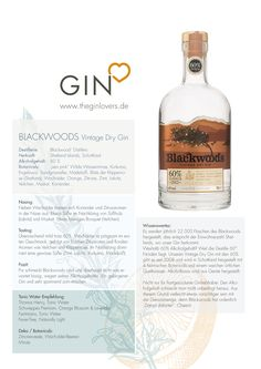 Blackwood´s Vintage Dry Gin 60% / Gin Review