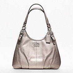 MADISON METALLIC LEATHER MAGGIE-have this in pleated black.   LOVE!!!
