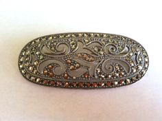 1920s Sterling Silver and Marcasite Pin by Sfuso on Etsy