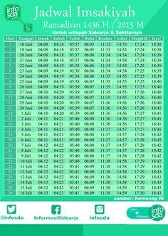 jadwal imsakiyah 1436 H sidoarjo