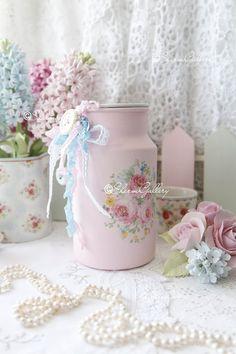 "Декоративный бидон ""Pink Rose""."