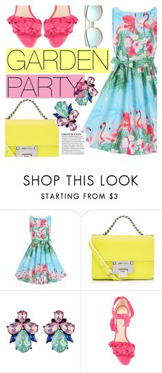 """""""Garden Party"""" by tasnime-ben ❤ liked on Polyvore featuring Jimmy Choo, Alexandre Birman and vintage"""