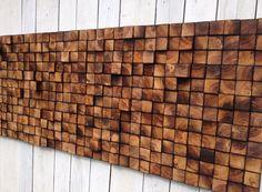 Arte de la pared cabecero de la reina recuperada por WallWooden