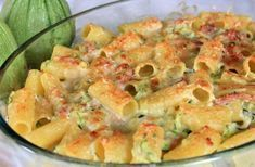 Pasta Gratin with Zucchini and Goat Cheese - Light Recipes - Weight Watchers Zucchini and Goat Pasta Gratin - Weight Watchers Zucchini, Weight Watchers Vegetarian, Weight Watchers Meals, Batch Cooking, Healthy Cooking, Healthy Snacks, Healthy Life, Zucchini Noodle Recipes, Pasta Recipes