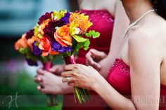 Fall wedding bouquets  www.helenolivia.com
