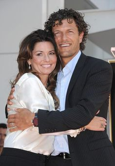 """( ☞ 2016 ★ CELEBRITY MUSIC ★ SHANIA TWAIN """" Country ♫ country pop ♫ country rock ♫ pop ♫ """" ★ Shania with her husband Frédéric Nicolas Thiébaud - Switzerland. """" ) ★ ♪♫♪♪ Eilleen Regina Edwards - Saturday, August 28, 1965 - 5' 4"""" 110 lbs 36-24-35 - Windsor, Ontario, Canada."""