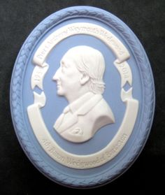 LORD PIERS ANTHONY WEYMOUTH WEDGWOOD, 4th BARON, MEDALLION / PLAQUE, JASPER 2014