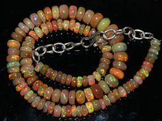 """75 Crts 1 Strands 5 to 8 mm 13"""" Beads necklace  Ethiopian Welo Opal  AA+++44007"""