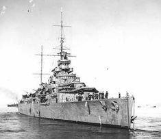 HMS Effingham (D 98) of the Royal Navy British light cruiser of the Cavendish class!