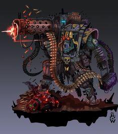 Warhammer 40k Memes, Warhammer Art, Warhammer Fantasy, Warhammer 40000, Armor Concept, Concept Art, Doom Demons, Orks 40k, Character Art