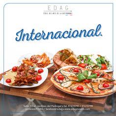 ¿Te interesa la cocina internacional? Conoce nuestras especialidades y conviértete en el mejor Chef. Más información en:  info@edag.edu.mx  o a los teléfonos 4161-0797/0798 ext. 406 ó 407