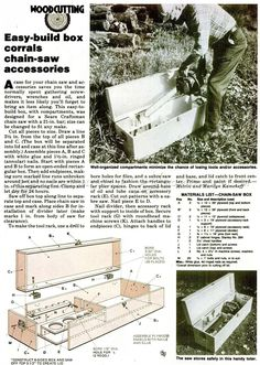 DIY Chainsaw Storage Box - Woodworking Plans and Projects | WoodArchivist.com
