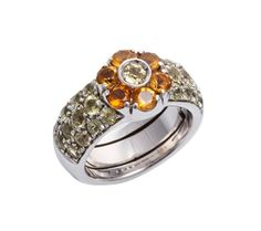 (18JD) 19ct White Gold Pasquale Bruni Fiori Ring n\A Fiori ring, Pasquale Bruni. Six claw set round mixed cut citrines… / MAD on Collections - Browse and find over 10,000 categories of collectables from around the world - antiques, stamps, coins, memorabilia, art, bottles, jewellery, furniture, medals, toys and more at madoncollections.com. Free to view - Free to Register - Visit today. #Jewelry #Rings #MADonCollections #MADonC