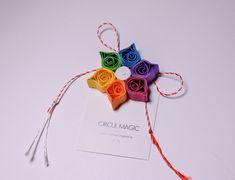 Quilling Paper Flower - DIY Favor | Rainbow Flower |  Martisoare Handmade 2018 Quilling - Circul Magic Quilling Work, Quilling Flowers, Paper Flowers Diy, Paper Quilling, Origami Paper, Diy Paper, Quiling Paper, Rainbow Flowers, 8 Martie