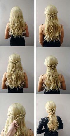 Idée de coiffure originale et facile à réaliser