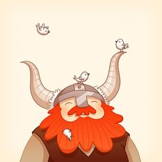 Happy Viking by Anneka Tran in Illustration 3d Character, Character Concept, Concept Art, Kawaii, Cute Illustration, Cute Art, Character Inspiration, Design Inspiration, Pokemon