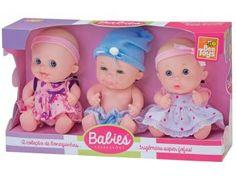 Babies Expressões Trigêmeas - Bee Toys
