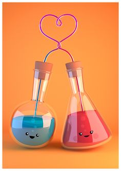 Skepticism, Science and Pop Culture: Prints and Cards by Skepticool Science Illustration, Heart Illustration, Chemistry Art, Chemical Science, Medical Laboratory, Be My Valentine, Love Art, Cute Wallpapers, Pop Culture