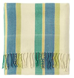 Showcasing a multicolor stripe motif and twisted fringe accents, this timeless woven throw is stylish draped over your sofa or at the foot of your bed. Company C Rugs, Fine Furniture, Porch Furniture, Cotton Throws, Luxury Bedding, Accent Pillows, Accent Decor, Living Room Designs, Mojito