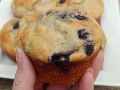 Weight watcher recipes Blueberry lemon banana yogurt muffins by drizzle me skinny