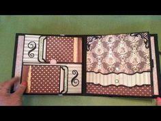 Mini album 8 x 8 'Dear Jane' - Mini Photo Albums, Mini Albums Scrap, Tutorial Scrapbook, Origami, Pop Up, Mini Album Tutorial, Handmade Books, Handmade Cards, Mini Scrapbook Albums