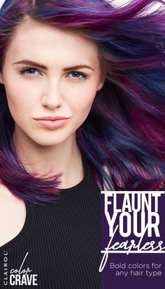 Blonde or brunette? All 11 shades of Color Crave semi-permanent color are visible on any hair type, so your look isn't limited by your locks. From Lavender to Indigo, you can rock the hottest color trends with confidence. Flaunt your fearless with Clairol.