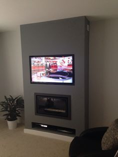 Image result for wall mount tv on chimney breast