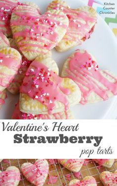 Valentine's Heart Strawberry Pop Tarts - Share your love with these deliciously simple homemade pop tarts. Feel free to sub in your favourite berry filling. | Valentine Recipe | Hand Pie Recipe | Valentine Dessert Recipe |