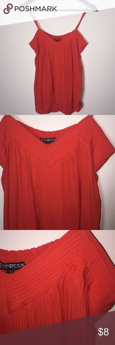 Express Reddish Orange Tank Top adjustable M Perfect condition! Nice stretch, straps are adjustable. Express Tops Tank Tops
