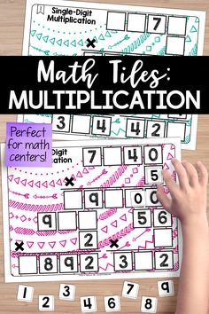 This set of single-digit multiplication math tiles is a hands-on activity that takes students' thinking beyond procedures and rote memorization--It's perfect for math centers! Students must place 10 number tiles (0-9) on the Time to Tile cards to correctly complete the single-digit multiplication. Activity Centers, Math Centers, Teaching Critical Thinking, Sixth Grade, Third Grade, Cooperative Learning, Problem Solving Skills, Teaching Resources, Teaching Ideas