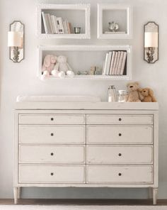 charming storage for necessities and favorites. using picture frames and adding a board around the sides for depth.
