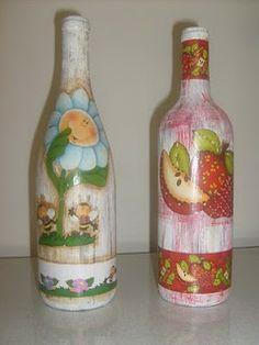 JANINHA TRICO E CROCHE: Garrafas recicladas lindas.