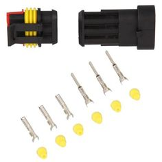 10 Set Kits Car Auto 3 Pin Way Waterproof Electrical Wire Cable Connector Plug Set Car Truck #Affiliate