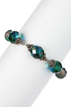 Sorrelli Emerald City Crystal Beaded Bracelet