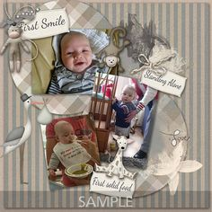 Digital Scrapbooking Kits   Babys First Year-(MemMos)   Babies, Celebrations, Family, Memories   MyMemories Babies First Year, Neutral Colour Palette, Paint Shop, Photoshop Elements, Paper Background, Beautiful Babies, Baby Photos, Photo Book
