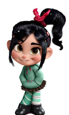 Glitch...I <3 her...if ever there is a character that reminds me of you baby girl, it is her. Wreck It Ralph rocks!