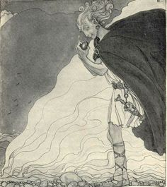 Loki, if you don't stop making that face nobody's going to believe you're not up to something. Art by John Bauer, my current favorite fairy tale illustrator.