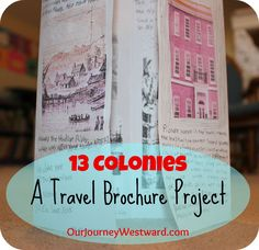 Thirteen Colonies Travel Brochure - can be easily adapted to teach about Washington touring the States after his election in 1789