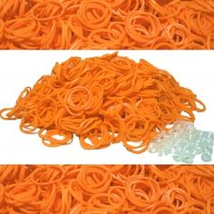 Orange Rainbow Loom Rubber Bands 600 pcs