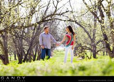 Engagement session in pecan orchard  http://www.gandyphotographers.com/weddings/
