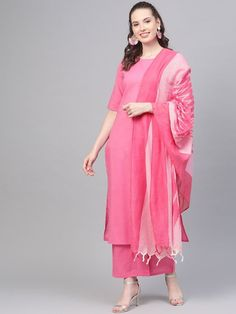 Kurtis are always a go-to for most women because they are comfortable, versatile, and elegant. Kurtis make you look good and feel comfortable. Whether its Formal wear, casual occasions or Festive season, Kurtis suits every occasion. Kurtis are very easy to carry and style. They give women a flawless look. The best part about kurti is that it is not ages bound, anyone can wear it and it will make you look younger than your age. Please Re-Pin for later 😍💞 kurti ladies, indian cloth store near m Stylish Dress Designs, Stylish Dresses, Colour Combination For Dress, Pink Kurti, Designer Kurtis Online, Formal Wear Women, Pakistani Salwar Kameez, Girl Photography Poses, Fashion Fabric