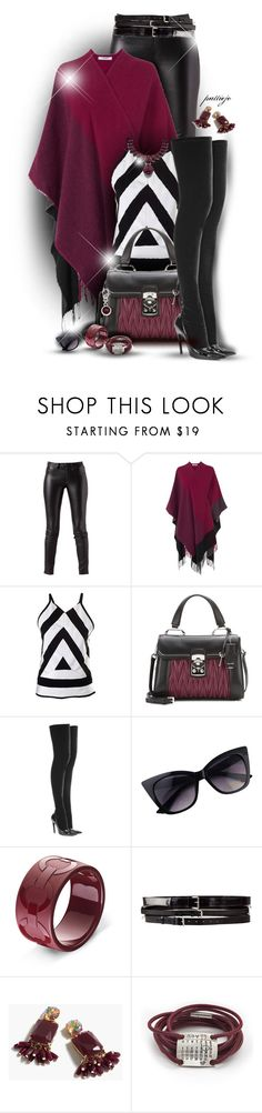 """Burgundy and Boots"" by rockreborn on Polyvore featuring rag & bone, L.K.Bennett, Kenzo, Miu Miu, Balenciaga, Ann Demeulemeester, J.Crew, Sweet Romance and Montblanc"