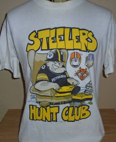vintage 1991 Pittsburgh Steelers football fan t shirt Large 3be935ed3