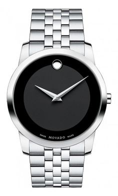 Learn about the MOVADO Museum Classic. This 0606504 features a Men's 40 mm bracelet watch and stainless steel link bracelet dial. Stainless Steel Watch, Stainless Steel Bracelet, Brown Leather Strap Watch, Vintage Watches For Men, Vintage Men, Hand Watch, Turquoise, Cool Watches, Men's Watches