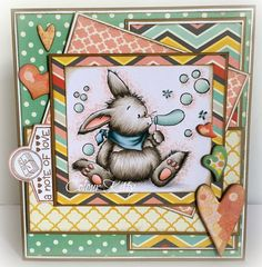 Colour Kitty: Bunny Blows Bubbles, Whimsy Stamps