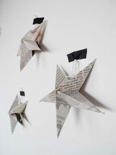 newspaper stars - ornament inspiration   |   babyramen