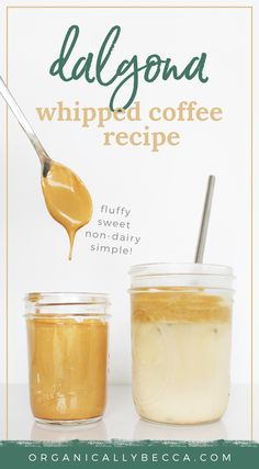 Wow this viral recipe has taken the internet by storm and I am HERE for it! Make this fluffy, whipped coffee treat using only 3 ingredients. Clean Recipes, Organic Recipes, Easy Recipes, Coffee Uses, Iced Coffee, Joyous Health, Almond Milk Coffee, Cashew Milk, Powder Recipe