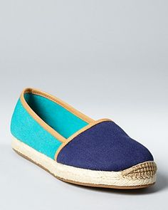 Aqua Flats - Tropical Espadrille. love the color combo. perfect for summa time.
