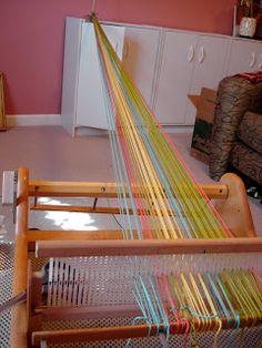 Color Fiber Texture: Weaving on a Rigid Heddle Loom - part 1