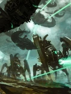 Warhammer 40k Necrons, Warhammer Fantasy, Warhammer Armies, Tyranids, Robot Concept Art, Space Wolves, Cyberpunk Art, Geek Art, Sci Fi Fantasy